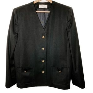 Christian Dior Black Wool Vintage Suit Jacket